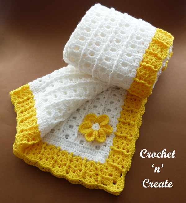 crochet summer baby blanket