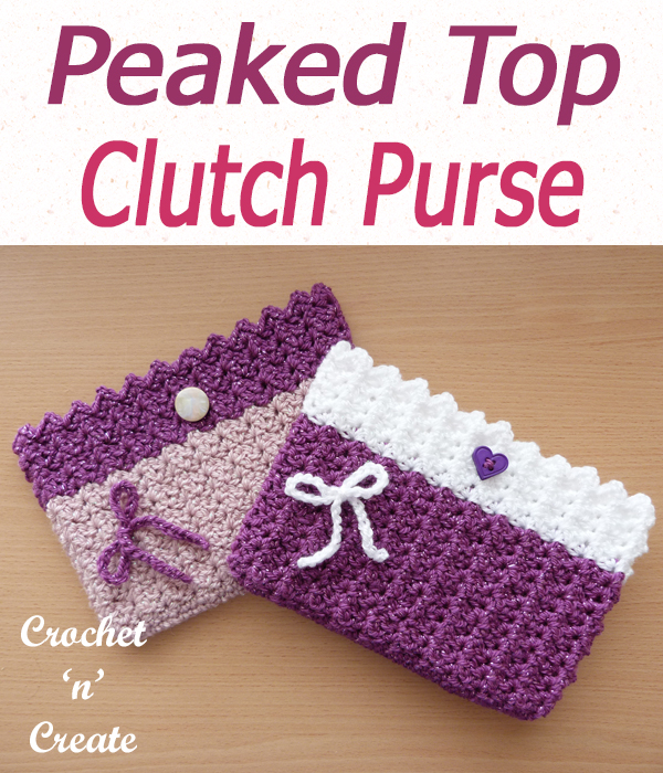peaked top clutch purse