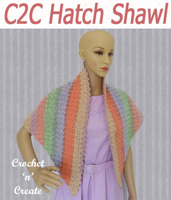c2c hatch shawl