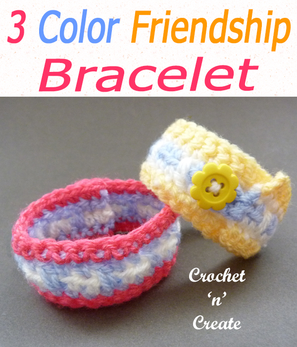 Three colour friendship bracelet