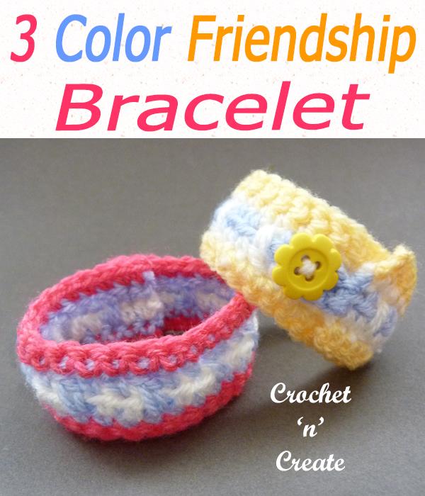 Three colour friendship bracelet