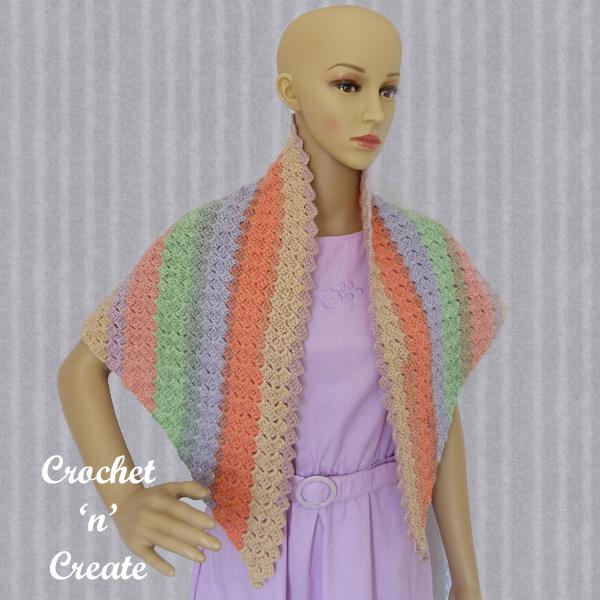 crochet c2c hatch shawl