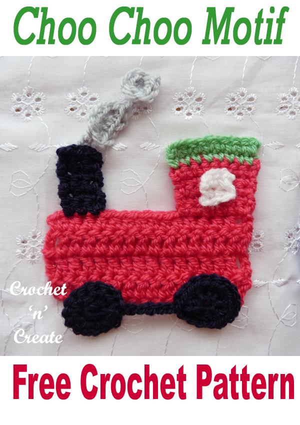 crochet choo choo motif