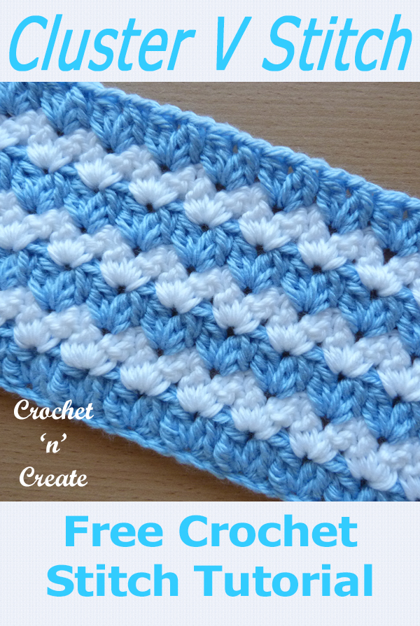 crochet cluster v-stitch