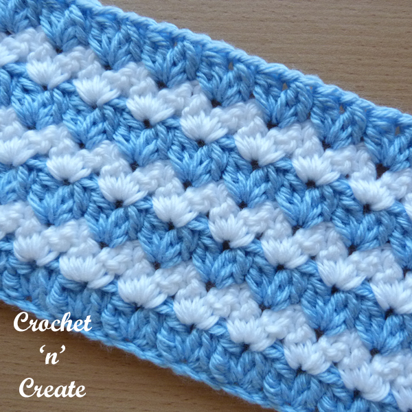 Crochet Cluster V-stitch Tutorial