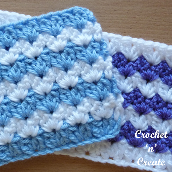 free crochet cluster v-stitch tutorial