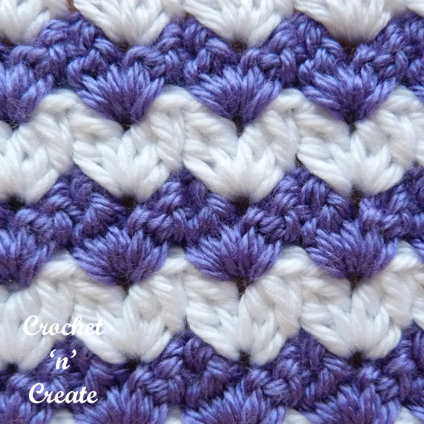 crochet v close up