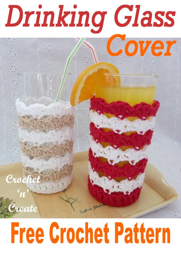 crochet drinking glass cover