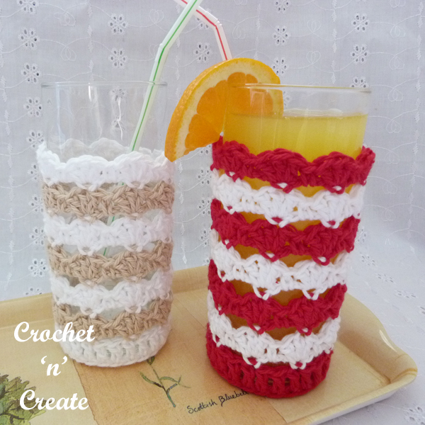 crochet drinking glass cover