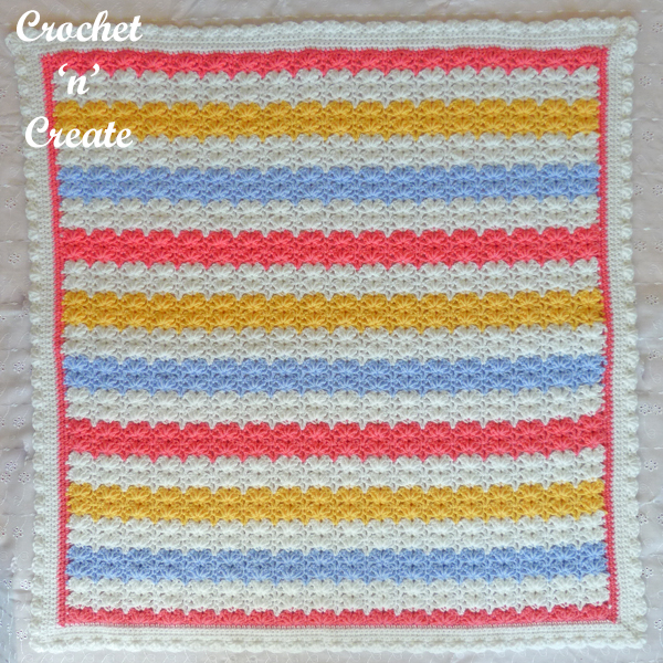 four colour baby blanket