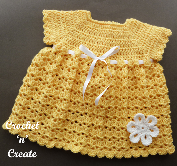 v and shell baby dress