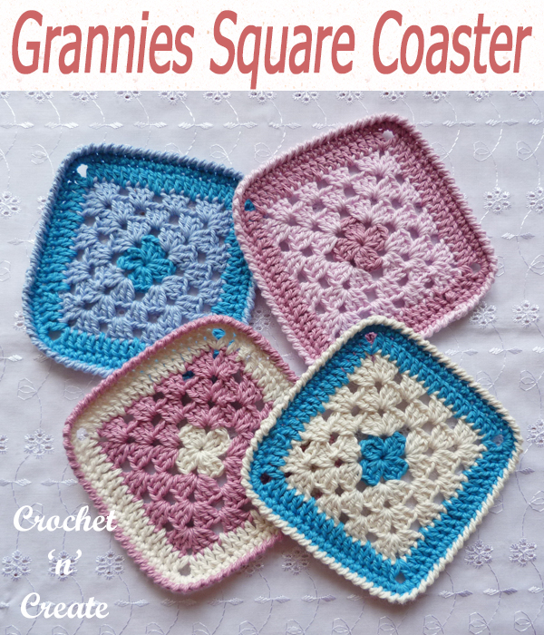 grannies square coaster