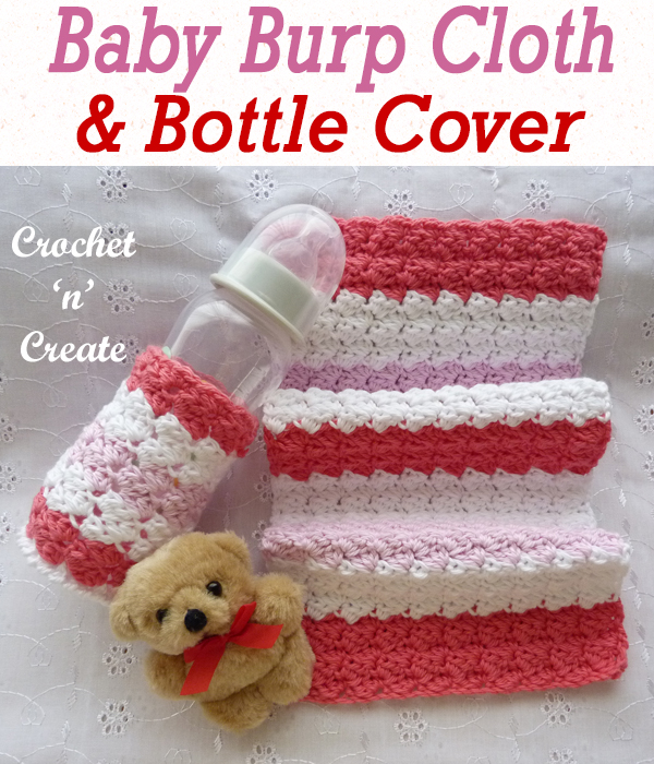 baby burp cloth & bottle cover