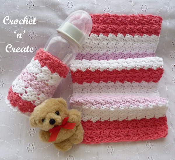 baby burp cloth-bottle cover