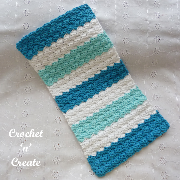 blue baby burp cloth