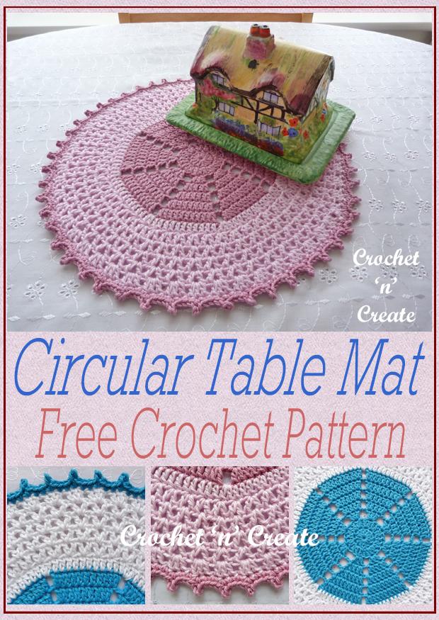 crochet circular table mat