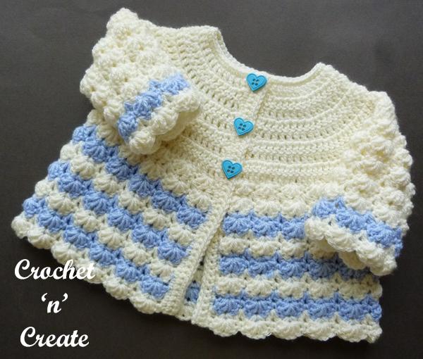 baby crochet coat