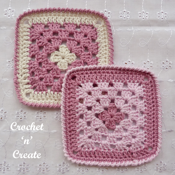 two crochet coasters