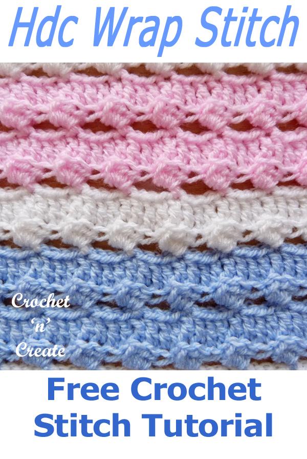 half double crochet wrap stitch