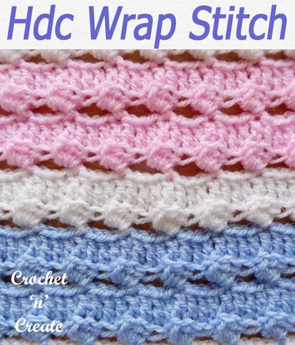 hdc wrap stitch