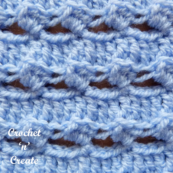 free half double crochet wrap stitch