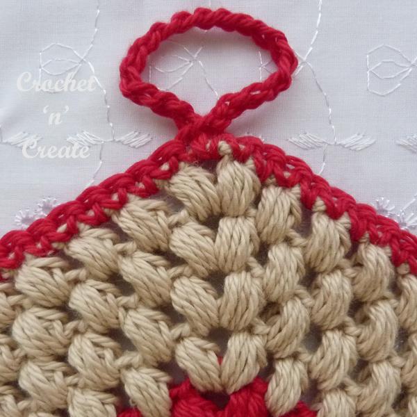 puff stitch potholder