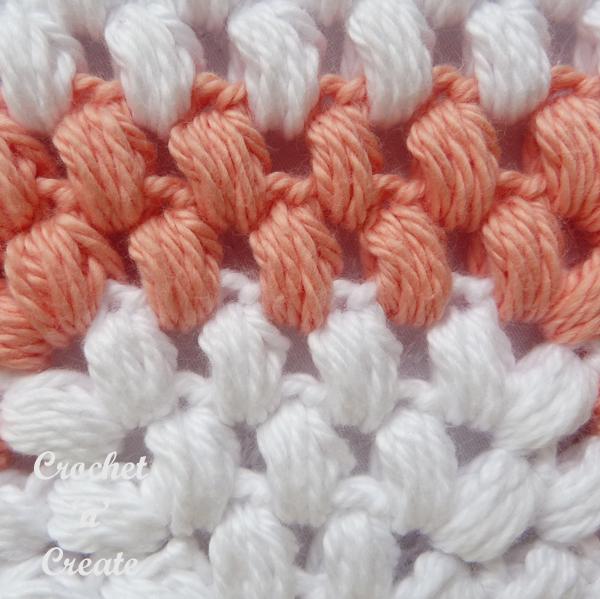 puff stitch closeup