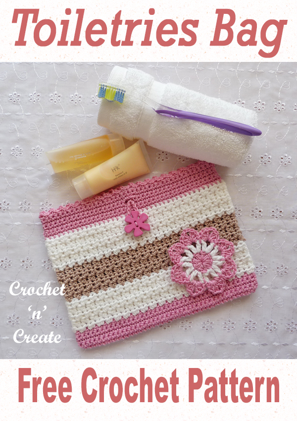 crochet toiletries bag