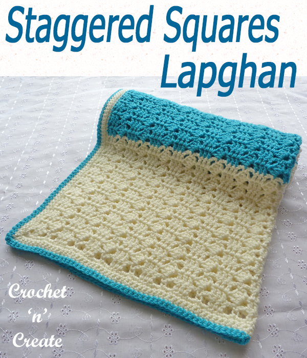 staggered squares lapghan