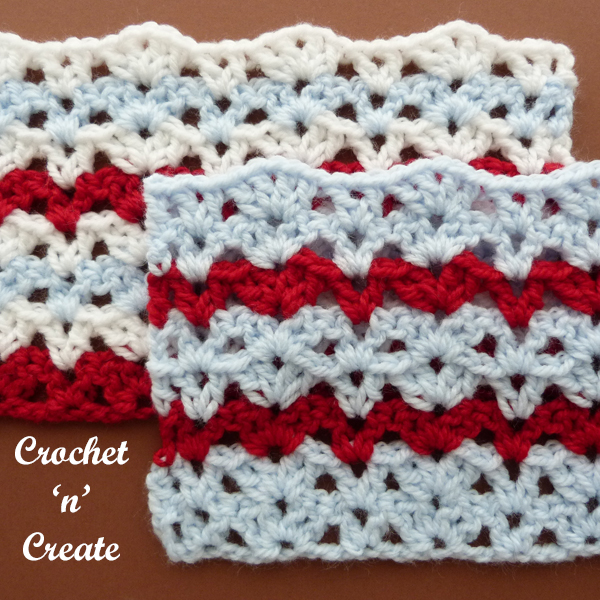 crochet alternate columns stitch