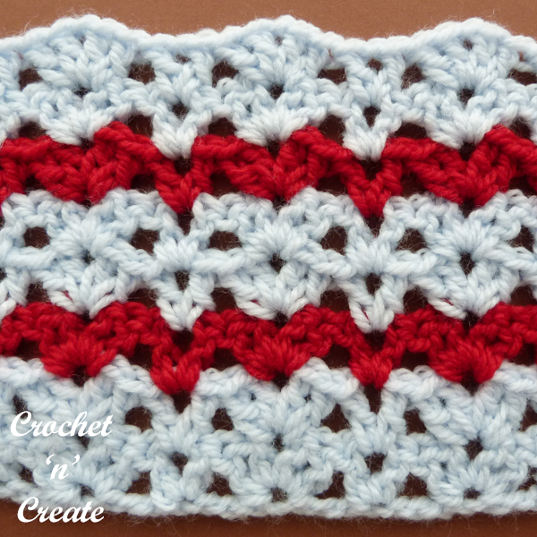 crochet alternate columns