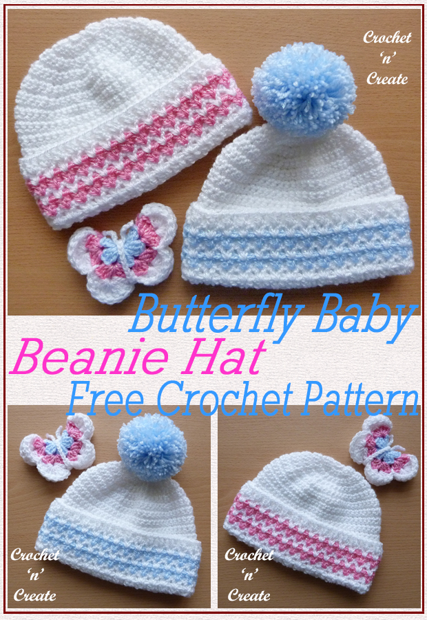 butterfly baby beanie hat