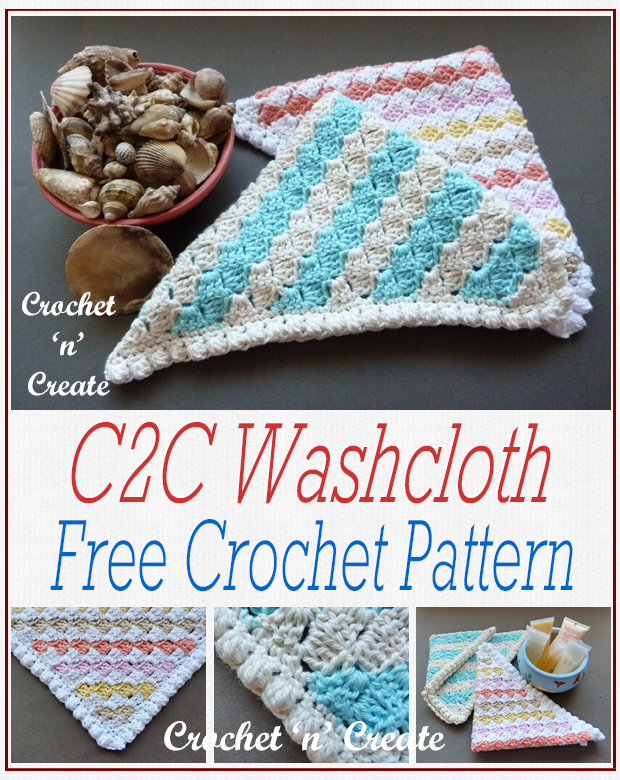crochet c2c washcloth