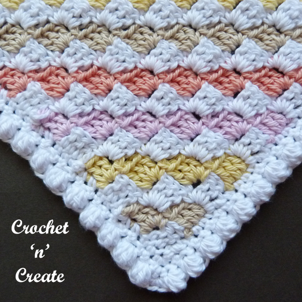 corner c2c washcloth