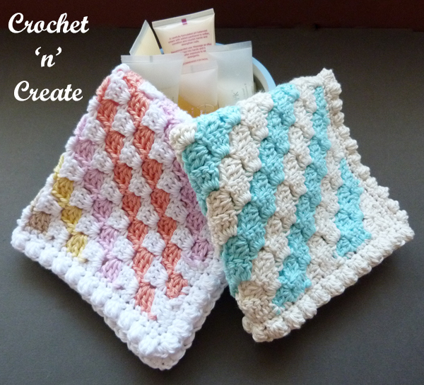 two washcloths