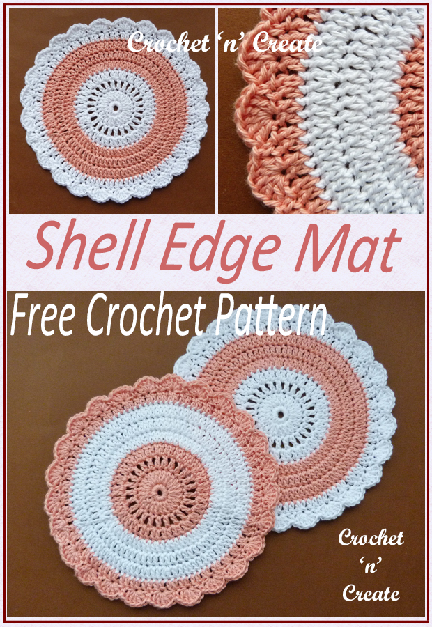 crochet shell edge mat