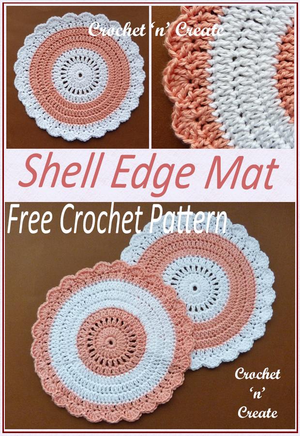 crochet shell edge mat