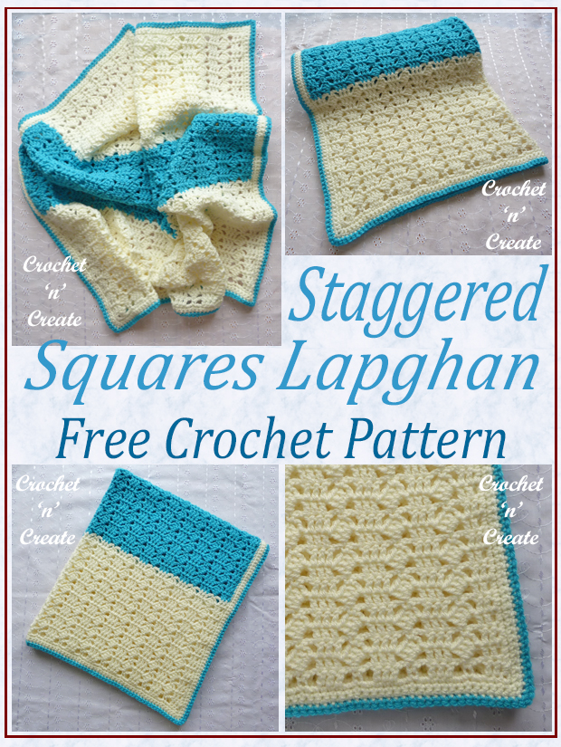 staggered squares crochet lapghan