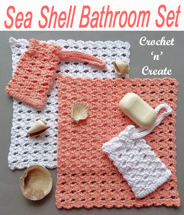 sea shell bathroom set