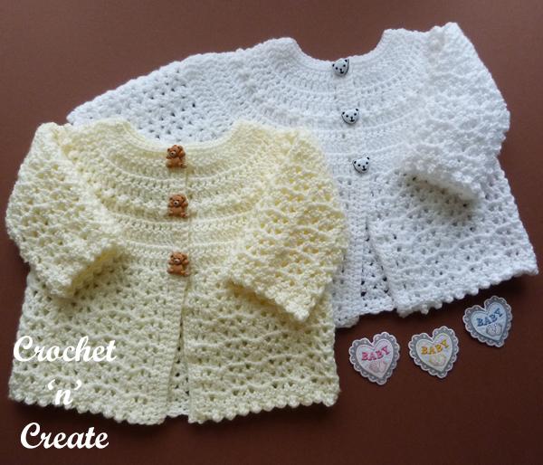 crochet baby baptism coat