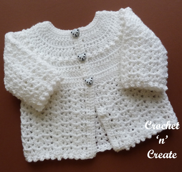 crochet baptism coat