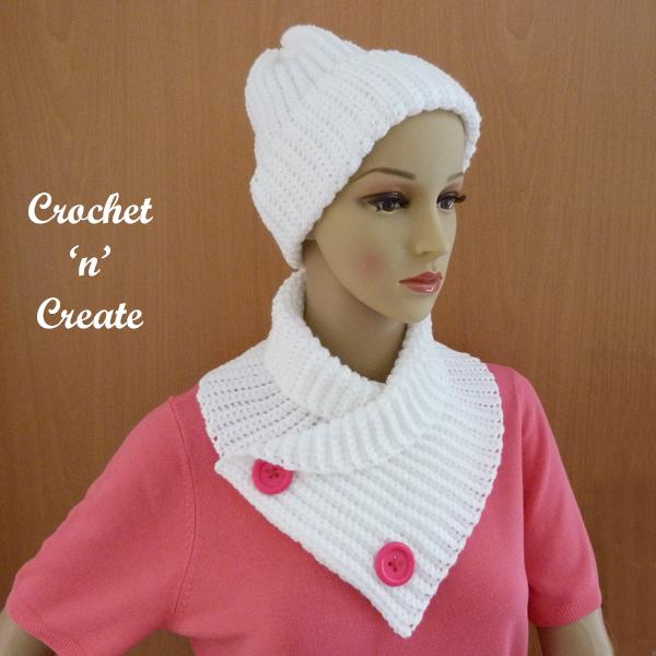 crochet ridged winter set