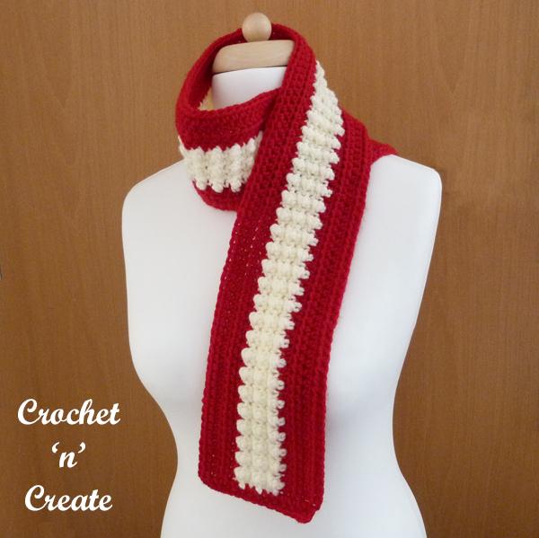 simple fun crochet scarf