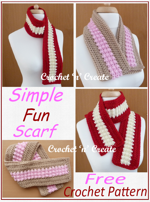 simple fun crochet scarf