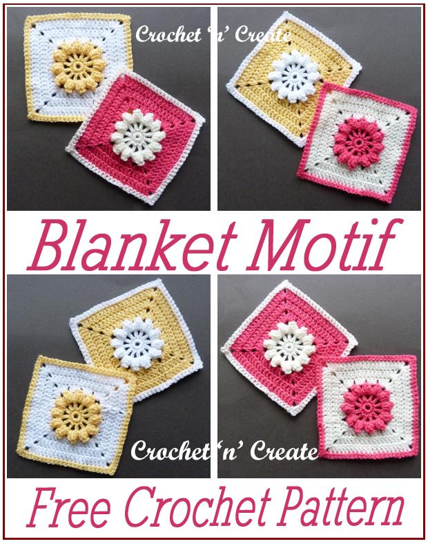 crochet blanket motif