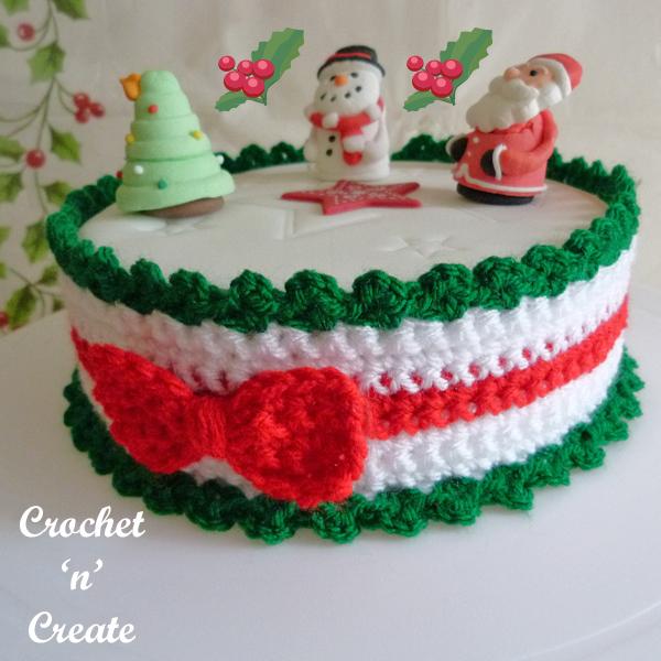 crochet christmas cake frill