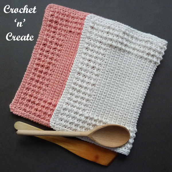 farmhouse crochet dishcloth