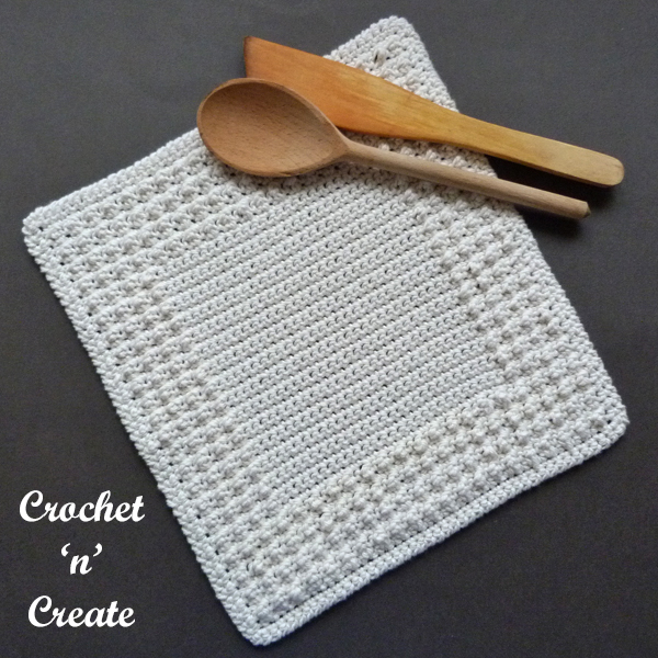 cream farmhouse dishcloth