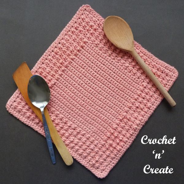 peach dishcloth