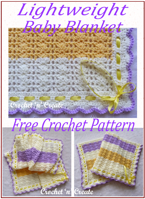 lightweight crochet baby blanket